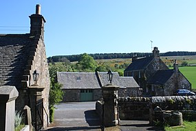 Houses in Cleish with the Cleish Hills behind.jpg