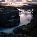 Hraunfossar Waterfall Iceland Travel Photography (217833243).jpeg