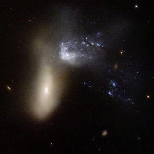 NGC 454 - Image: Hubble Interacting Galaxy NGC 454 (2008 04 24)