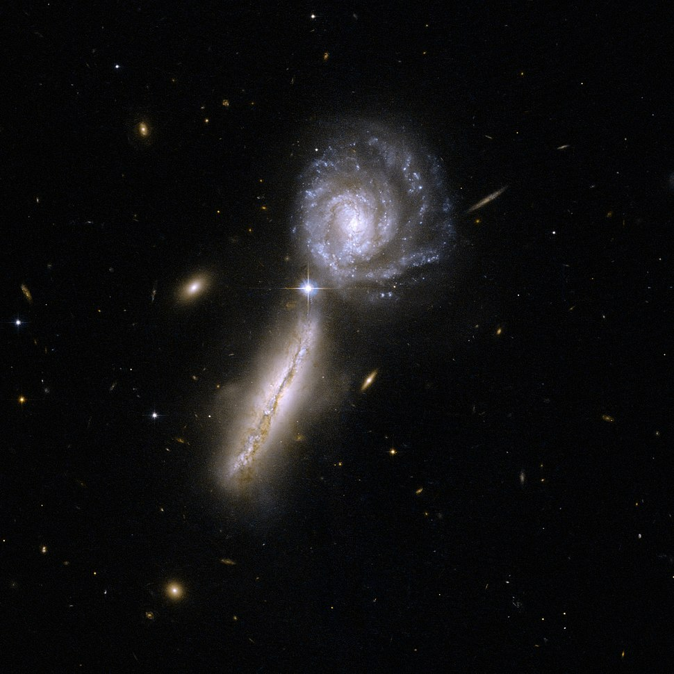 Hubble Interacting Galaxy UGC 9618 (2008-04-24)