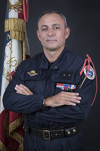 Médaille de la Gendarmerie nationale - General Hubert Bonneau, a recipient of the Médaille de la Gendarmerie nationale with silver star device