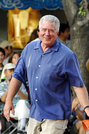 Huell Howser - Howser at the Nisei Week Grand Parade in Los Angeles, California on August 19, 2007