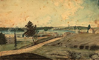 Gatineau - Image: Hull, (Lower Canada), on the Ottawa River; at the Chaudier (sic) Falls, 1830