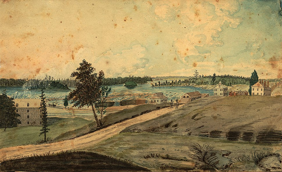 Hull, (Lower Canada), on the Ottawa River; at the Chaudier (sic) Falls, 1830.jpg
