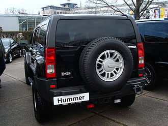 Hummer H3 - Hummer H3 showing external spare tire
