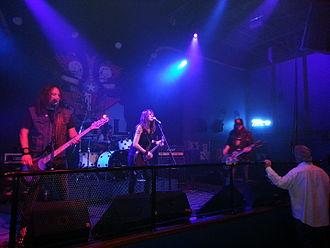 Bob Kakaha - Kakaha performing with American rock band Hush Money from Dallas, Texas