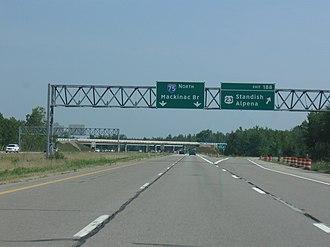 Interstate 75 in Michigan - Image: I 75 MI exit 188