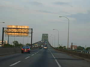 Interstate 78 - I-78 eastbound at the Newark Bay Bridge.