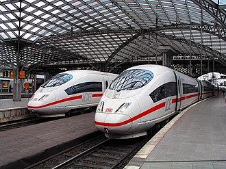 Köln Hauptbahnhof - A Deutsche Bahn high-speed train