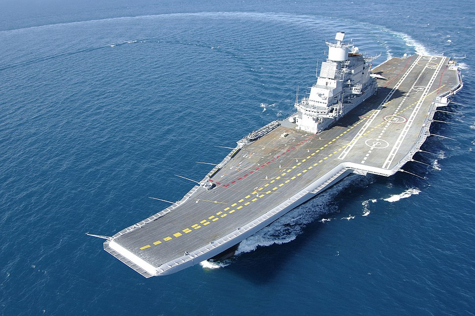 INS Vikramaditya during trials
