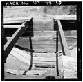 INTERIOR VIEW OF WOOD FRAME AND CONCRETE HOPPER, LOOKING WEST - Jones Mine, Scofield, Carbon County, UT HAER UTAH,4-SCOF,1-10.tif