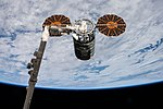 ISS-53 Cygnus OA-8 grappling to the ISS.jpg