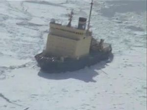 File:Icebreaker Kapitan Khlebnikov in the Ross Sea, Antarctica from helicopter.ogv