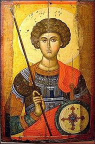 Ícone de São Jorge, Museu Cristão-Bizantino, Atenas
