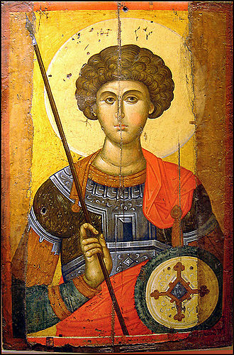 Patronages of Saint George - Icon of St. George (Byzantine and Christian Museum, Athens)