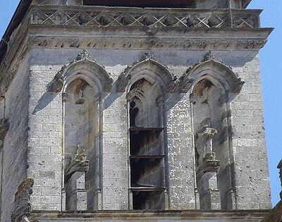 Iconoclasm Clocher Saint Barthelemy south side La Rochelle