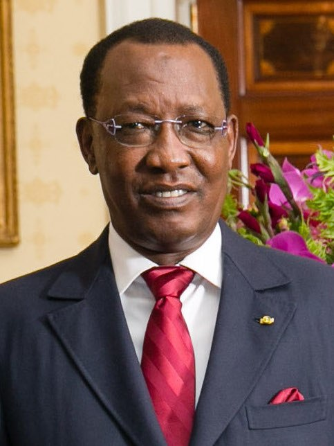 Idriss Déby at the White House in 2014