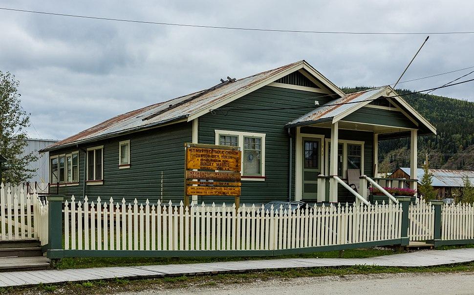 Iglesia católica de Santa María, Dawson City, Yukón, Canadá, 2017-08-27, DD 33