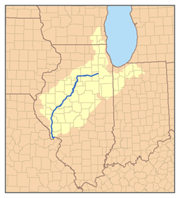 Illinois River Wikipedia - Map of illinois rivers
