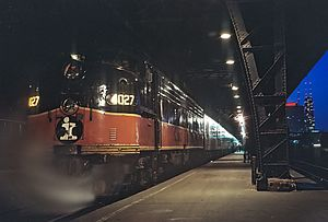 Central Station (Chicago terminal) - The Hawkeye at Central Station on April 4, 1971