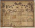 Illustrated family record (Fraktur) found in Revolutionary War Pension and Bounty-Land-Warrant Application File... - NARA - 300070.jpg