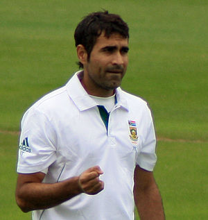 Imran Tahir - Tahir playing for South Africa against Somerset in July 2012.