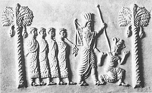 Inarus and possible Greek generals as prisonners, seized by Artaxerxes I.jpg