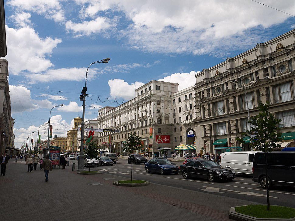 Independence Avenue in Minsk