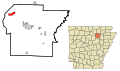 Independence County Arkansas Incorporated and Unincorporated areas Cushman Highlighted.svg