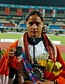 India's Anu Rani, Javelin Throw Bronze Medalist.jpg