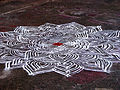 India - Sights & Culture - Intricate kolam outside the Mylapore Temple (2279201024).jpg