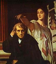 Jean-Auguste-Dominique Ingres: Luigi Cherubini et la muse de la poésie lyrique