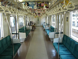 Tokyo Metro 06 series - Image: Inside of 06 101F