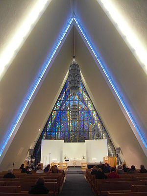 Arctic Cathedral - Image: Inside the Arctic Cathedral