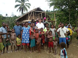 Institute of the Incarnate Word - A priest of the Institute of the Incarnate Word makes a pastoral visit to a village in Papua New Guinea.