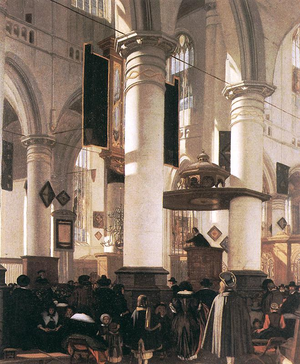 "Emanuel de Witte - ""Interior of a Church"", by Emmanuel de Witte c. 1660"