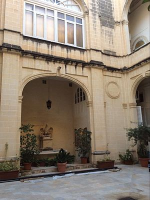 Ministry for Foreign Affairs (Malta) - Central courtyard at Palazzo Parisio