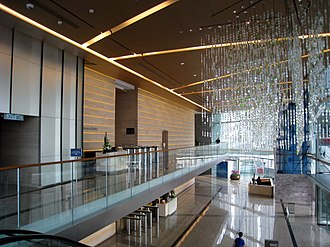 International Commerce Centre - Image: International Commerce Centre Lift Lobby Overview 1