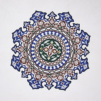 Islamic geometric patterns (Aydar kadi mosque, Bitola, Macedonia).jpg