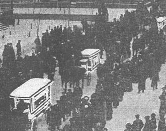 Italian Hall disaster - A funeral procession held on Sunday