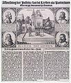 Iustitie tot Leyden - Executie van de plegers van de aanslag op Maurits van Oranje te Leiden (1623).jpg