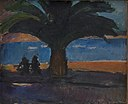 J.A. Jerichau - The Thick Palm. View from Villefranche - KMS6598 - Statens Museum for Kunst.jpg