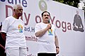 J.P. Nadda addressing the gathering on the occasion of International Yoga Day, in Hyderabad on June 21, 2015. The Minister of State for Labour and Employment (Independent Charge), Shri Bandaru Dattatreya is also seen.jpg
