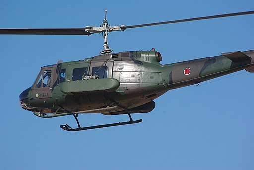 JGSDF UH-1H & Type87 mine dispenser 20120108
