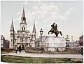 Jackson Square New Orleans - Photochrome by Detroit Photographic Company (0349).jpg