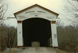 Jackson Covered Bridge - Image: Jacksoncoveredbridge