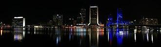 Jacksonville Riverwalks - View from the Southbank Riverwalk