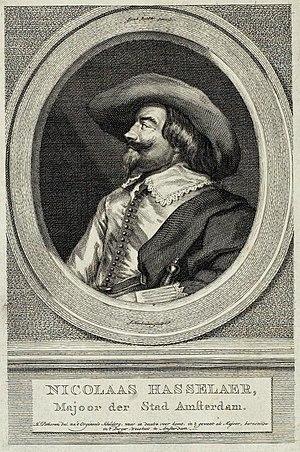 Nicolaes Hasselaer - Image: Jacob Houbraken after Hendrik Pothoven Nicolaes Hasselaer