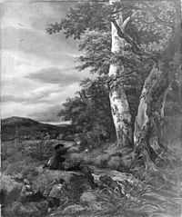 Jacob van Ruisdael and Johannes Lingelbach - Landscape with a hunting scene.jpg