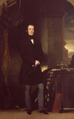 James Broun-Ramsay, 1st Marquess of Dalhousie - Portrait of Lord Dalhousie by John Watson-Gordon, 1847.